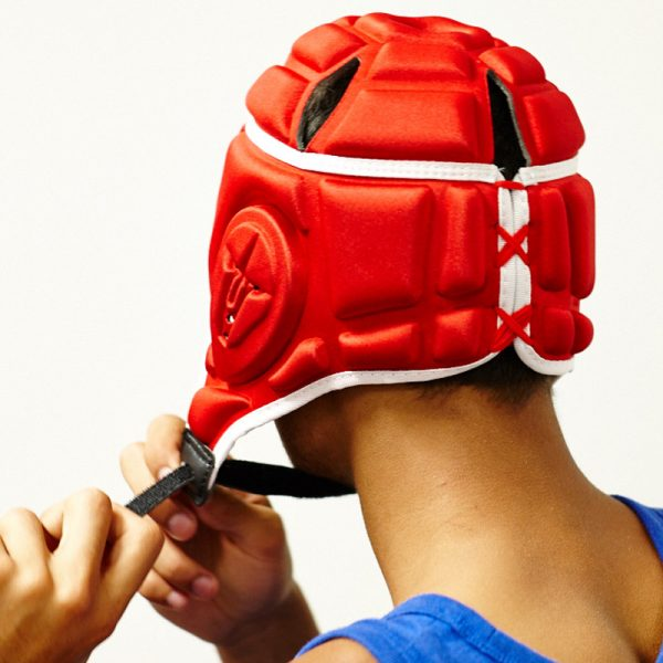 Gameguardian DLSR Head Guard with Adjustable Strap in Red
