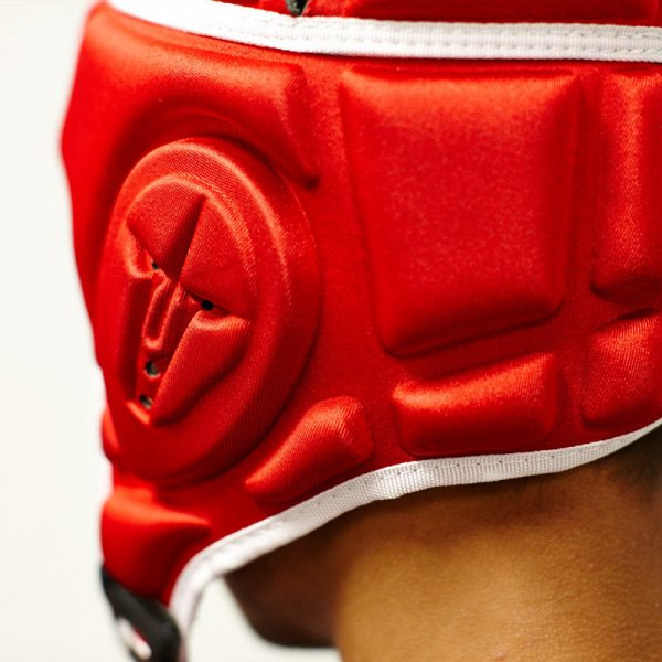 Gameguardian DLSR Head Guard – Red with White Trim